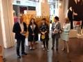 Inaugurazione della mostra con la nostra artista Stefania, Fernanda, Elena, Anna Girello e la direzione dello Spazio Miroglio