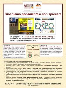 Locandina Zonta per EXPO