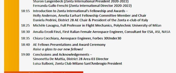 Premiazione Amelia Earhart Fellowship del Distretto 28